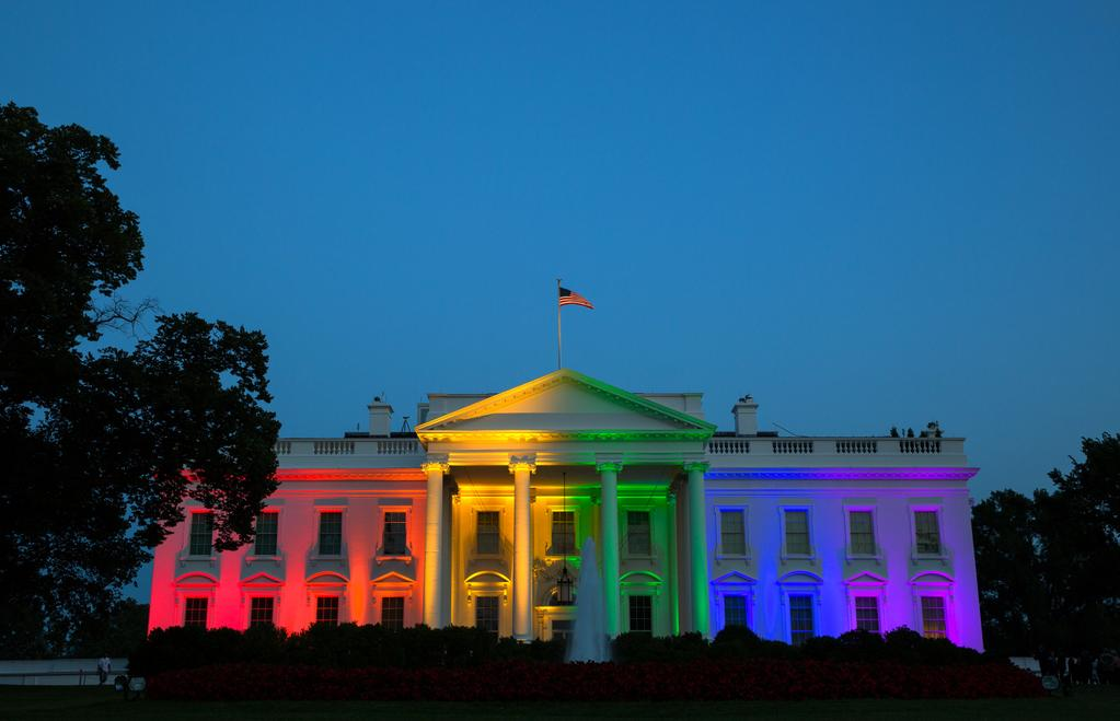 White House with Rainbow Colors (2015), sexual orientation discrimination protections at the federal level