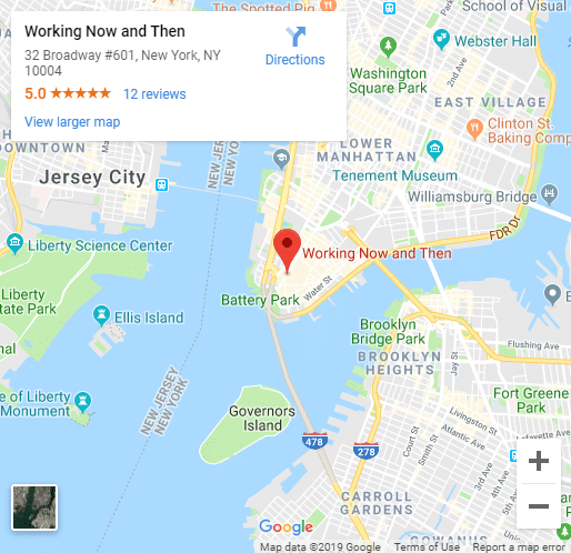Google Map of Working Now and Then