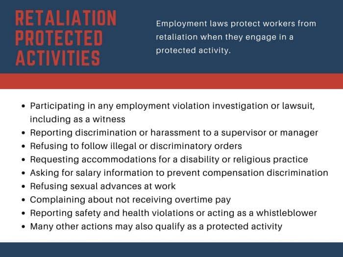 retaliation laws protected activities