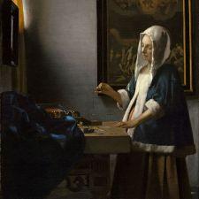 Johannes Vermeer, Woman Holding a Balance (1665)