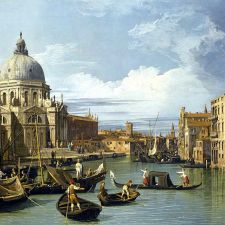 Canaletto, Entrance to the Grand Canal (1730)