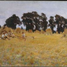 John Singer Sargent, Reapers Resting in a Wheat Field (1885)
