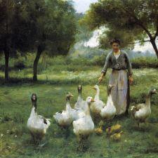 Thérèse Cotard-Dupre, Guiding the Geese (1914)